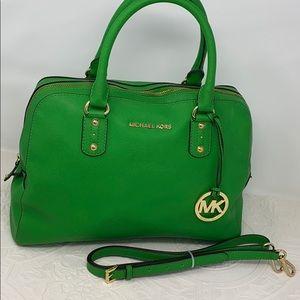 Michael Kors Kelly Green Sarrifino Handbag